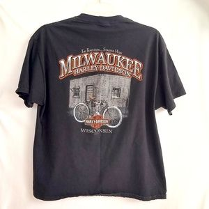 Other - Harley Davidson T Shirt XL Tribute Bicycle Black